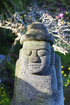 Dol hareubang (harubang) protection and fertility statue, Seogwipo City, Jeju Island, South Korea, Asia