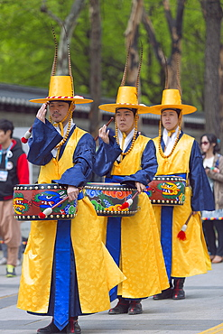 Changing of the Guards ceremony, Deoksugung Palace, Seoul, South Korea, Asia