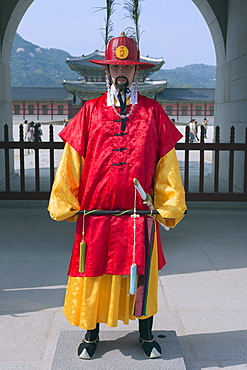 Changing of the Guards ceremony, Gyeongbokgung palace, Seoul, South Korea, Asia