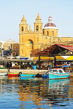 Our Lady of Pompeii Church (Marsaxlokk Church), Marsaxlokk Harbour, Malta, Mediterranean, Europe