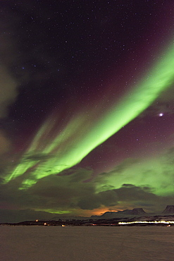 Aurora borealis (Northern Lights), Abisko, Lapland, Arctic Circle, Sweden, Scandinavia, Europe