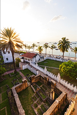 Ruins at the Beit-el-sahel Museum, Stone Town, Island of Zanzibar, Tanzania, East Africa, Africa