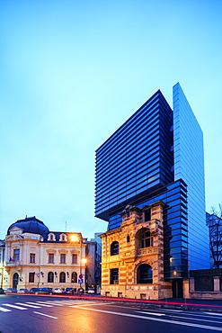 Piata Revolutei Square, (Revolution Square) Headquarters of the Romanian Architects Association, Bucharest, Romania, Europe