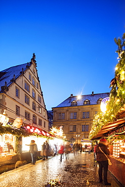 Christmas market at Schillerplatz, Stuttgart, Baden-Wurttemberg, Germany, Europe