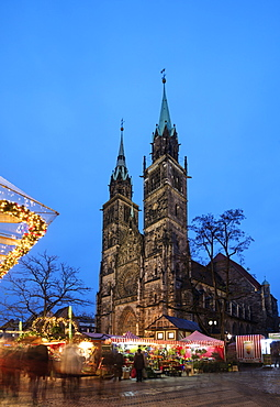 Lorenzkirche (Church of St. Laurence), Nuremberg (Nurnberg), Franconia, Bavaria, Germany, Europe