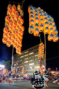 Akita Kanto lantern festival, Akita Prefecture, Tohoku, Honshu, Japan, Asia