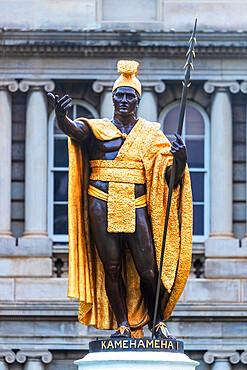 Statue of King Kamehameha I, Oahu Island, Hawaii, United States of America, North America