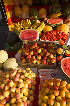 Fruit stand in the market, Wulumuqi, Xinjiang Uyghur autonomy district, Silk Road, China
