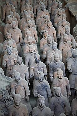 Terracotta warriors in Museum of Terracotta Warriors, Xian, China