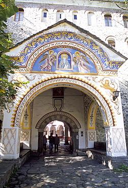 Samokov Gate of Rila monastery, UNESCO World Heritage Site, Rila Mountains, Bulgaria, Europe