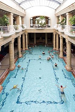 Interior pool, Gellert Baths, Budapest, Hungary, Europe