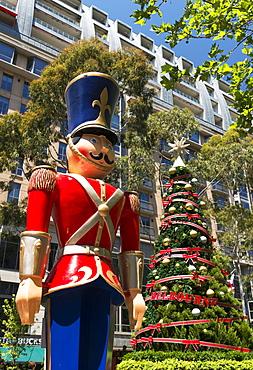 Nutcracker and Christmas Tree, City Square, Melbourne, Victoria, Australia, Pacific