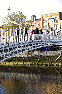 Ha' penny Bridge on the Liffey River, Dublin, Republic of Ireland, Europe