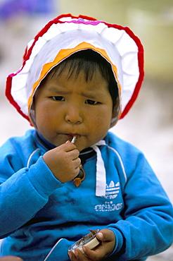 Tarahumara baby, Mexico, North America