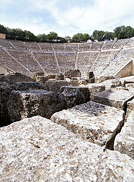 Archaeological site, Olympia, UNESCO World Heritage Site, Peloponnese, Greece, Europe