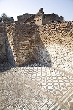 Mosaics, Hadrian's Villa, UNESCO World Heritage Site, Tivoli, Rome, Lazio, Italy