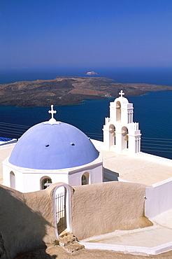 Firostefani, island of Santorini (Thira), Cyclades Islands, Aegean, Greek Islands, Greece, Europe