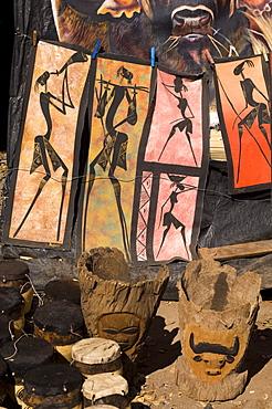 Souvenirs shop at Victoria Falls, Zambia, Africa