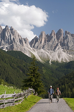 Odle Group, Funes Valley (Villnoss), Dolomites, Trentino Alto Adige, South Tyrol, Italy, Europe