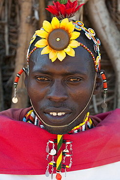 Samburu Tribesman, Loisaba Wilderness Conservancy, Laikipia, Kenya, East Africa, Africa
