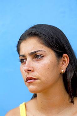 Portrait of a young woman, Genipabu (Natal), Rio Grande do Norte state, Brazil, South America