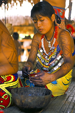 Embera Indian woman, Soberania Forest National Park, Panama, Central America