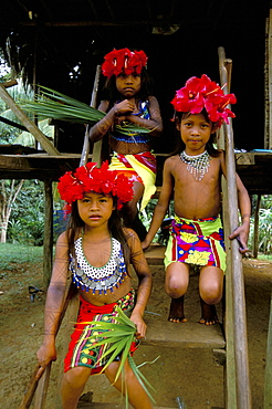 Young Embera Indians, Soberania Forest National Park, Panama, Central America