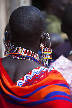 Maasai beadwork at the Predator Compensation Fund Pay Day, Mbirikani Group Ranch, Amboseli-Tsavo eco-system, Kenya, East Africa, Africa