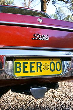 Car registration plate BEER, South Australia, Australia, Pacific