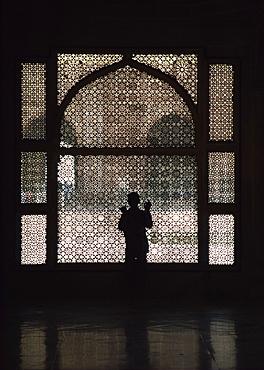 Ornate screen, Fatehpur Sikri, UNESCO World Heritage Site, Uttar Pradesh state, India, Asia