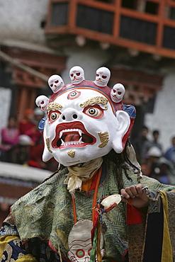 Lama dancing, Ladakh, India, Asia
