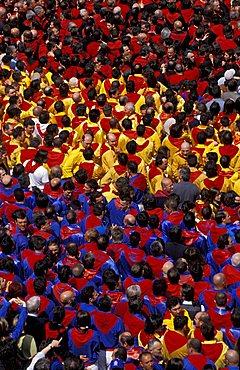 La corsa dei ceri, Piazza del Comune, Gubbio, Umbria, Italy