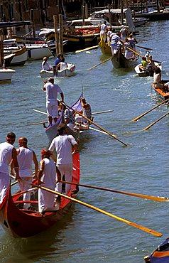Regatta, Redentore feast, Venice, Veneto, Italy