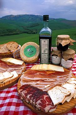 """Lischeto"" Farm's typical product, Volterra, Val di Cecina, Toscana, Italy"