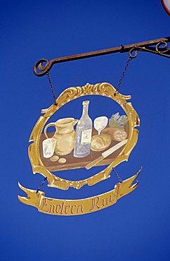 Ruz wine shop's sign, Trentino Alto-Adige, Italy