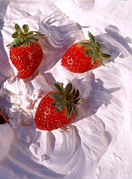 Strawberries and cream, Italy