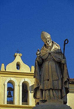 Statue of Sant'Alfonso in Piazza Umberto I, Sant'Agata de' Goti, Campania, Italy