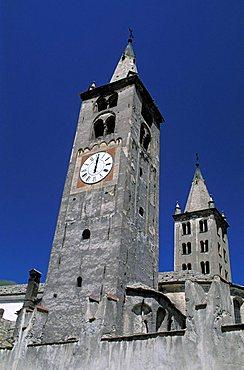 Santa Maria cathedral, Aosta, Valle d'Aosta, Italy