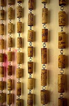 Corks, Viola winery, Milan, Lombardy, Italy