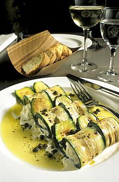 Roulade of stracciatella cheese, Avogaria restaurant, Venice, Veneto, Italy