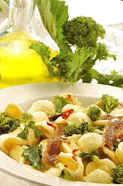 Orecchiette with turnip tops, Italy
