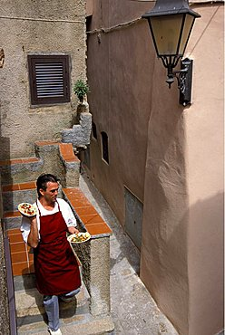 """""""Il Grembo"""" Restaurant, Enrico Lubrani chef and owner , Isola Del Giglio, Toscana, Tuscany, Italy"""