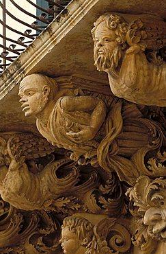 Balcony of Palazzo Nicolaci di Villadorata, Noto, The baroque in Sicily, Italy