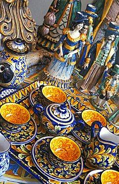 Ceramics pottery, Sicily, Italy