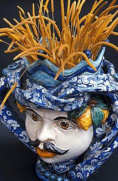 Ceramics head, Sicily, Italy