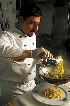 Chef, Trattoria Gagini, Palermo, Sicily, Italy
