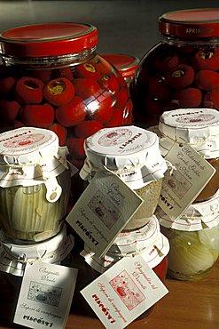 Products in oil Visconti, Nizza Monferrato, Piedmont, Italy.