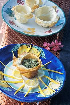 Ricciola tartare, Orestorante restaurant, Ponza island, Lazio, Italy
