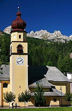 Alpine church, Val di Fassa, Trentino Alto Adige, Italy