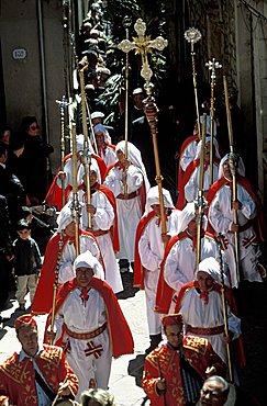 Palm Sunday procession, Gangi, Sicily, Italy
